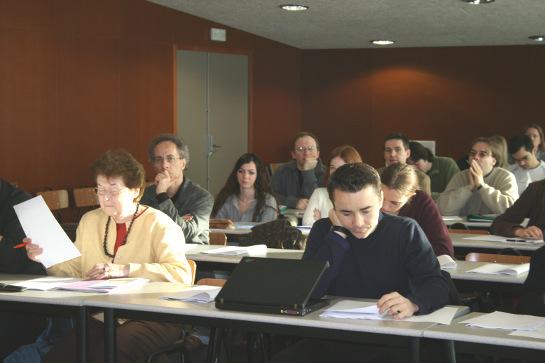 Photo d'une classe de travaux dirigés