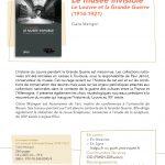 """Couverture du livre """"Le musée invisible - Le Louvre et la Grande Guerre (1914-1921)"""""""