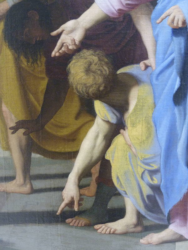 Nicolas Colombel, Le Christ et le famme adultère, Rouen, 1682, musée des beaux-arts, détail
